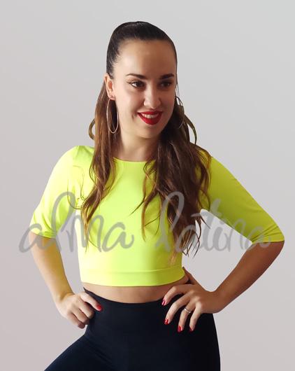 Top-de-danza-amarillo-para-bailar-deportivo-modelo-espalda-descubierta