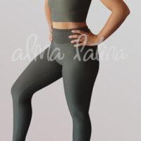 leggings-verde.push-up-modelo-drapeado-militar