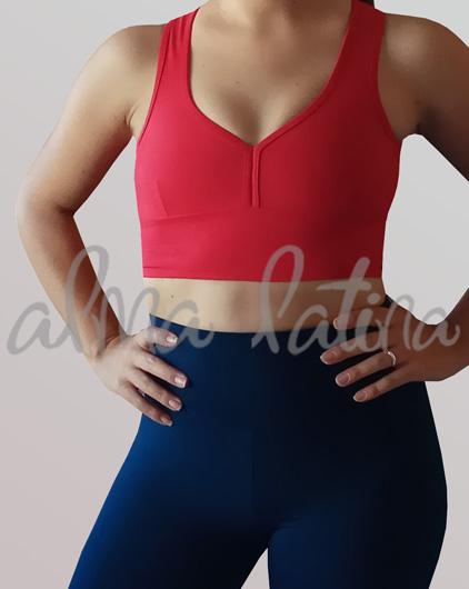 top-deportivo-rojo-ropa-de-baile-modelo-clasico