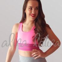 top-deportivo-para-bailar-mujer-modelo-transparencias-rosa-fluor
