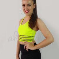 top-deportivo-mujer-transparencias-amarillo