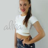 top-mujer-para-bailar-bachata-salsa-lazada-manga-corta-blanco