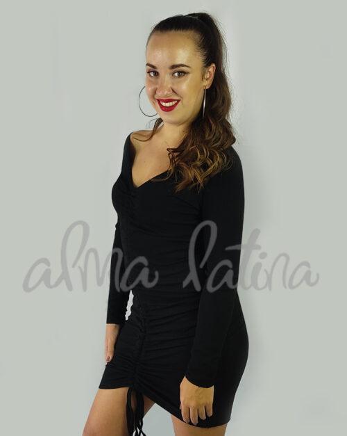 vestido-de-canalé-negro