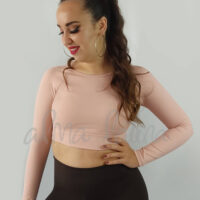 top-de-manga-larga-rosa-nude-ropa-de-baile-y-deportiva